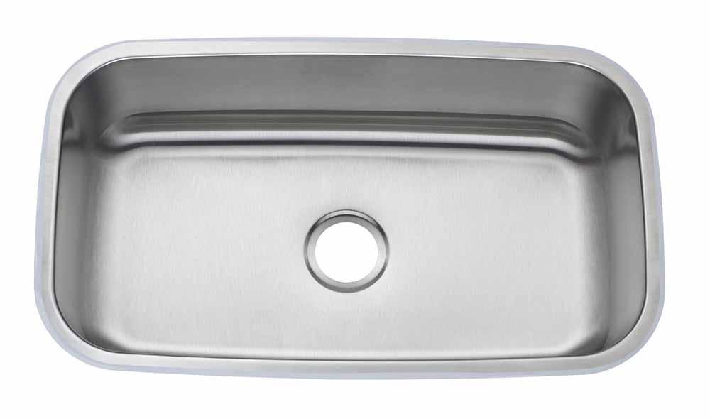 32″ Large Single <br> Bowl Undermount <br> Kitchen Sink
