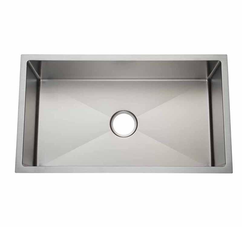 32″ Large Single Bowl 3/4 Radius Undermount Kitchen Sink