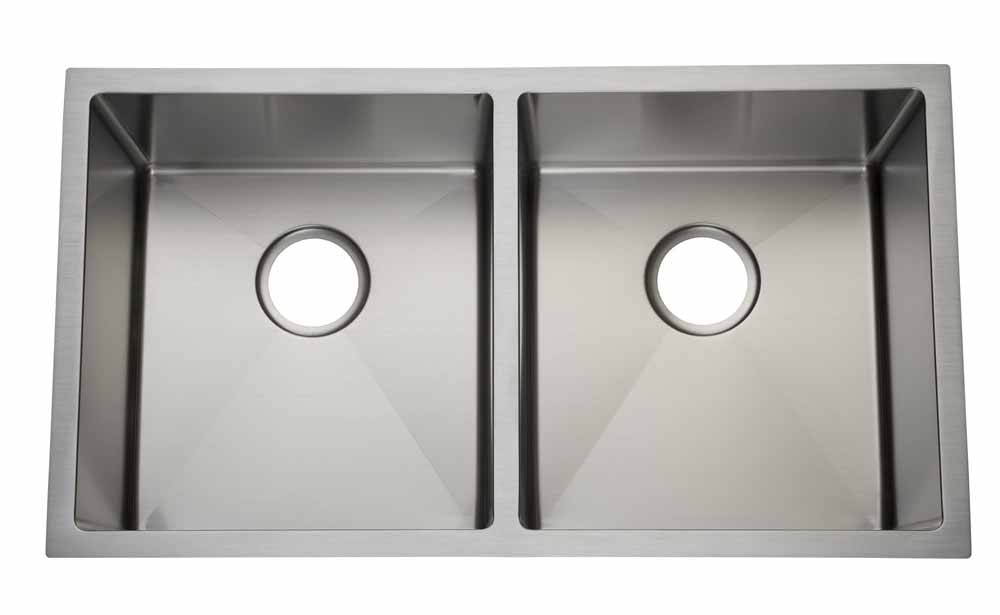 32″  50/50 <br> 3/4 Radius Undermount <br> Kitchen Sink