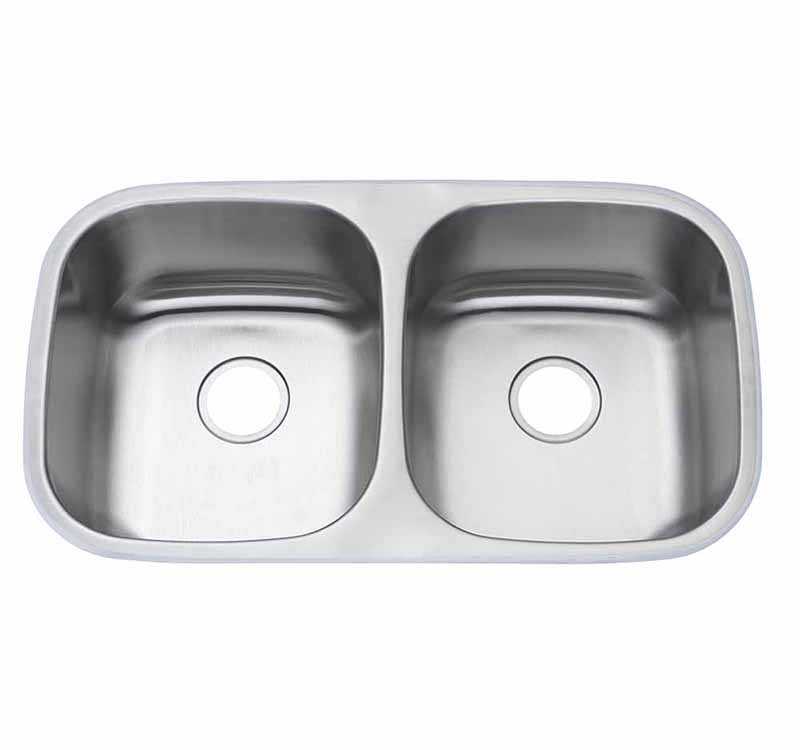 32″ 50/50 <br> Undermount <br> Kitchen Sink