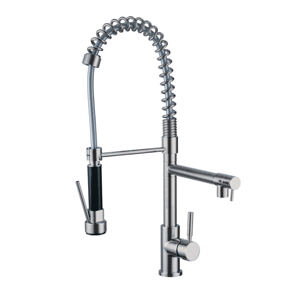 Coil Spring Dual Head Kitchen Faucet KF200BN