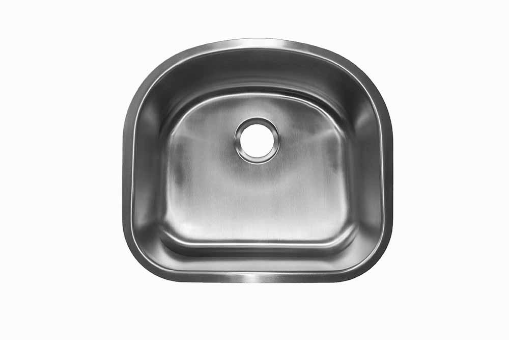 D- Shaped Bowl <br> Undermount <br> Kitchen Sink